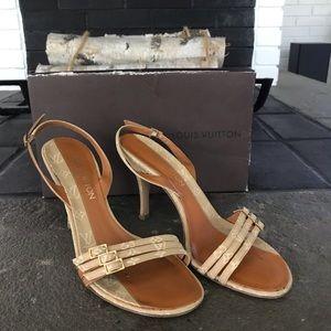 Authentic Louis Vuitton Monogram Sandal Heels